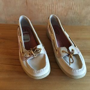 Sperry Top Siders. Angelfish Oatmeal Plaid size 8m